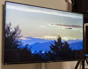 UHD TV in der Ausstelung